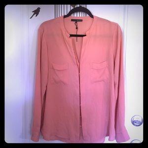 Ro & De melon orange l/s blouse